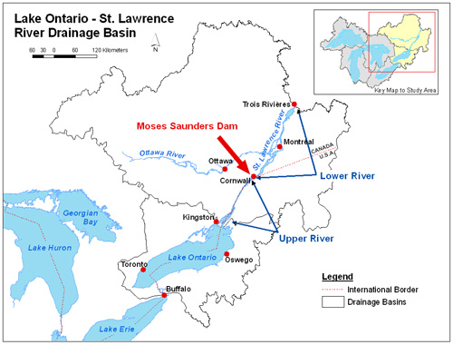 The Lake Ontario St Lawrence River System - Us map with st lawrence river